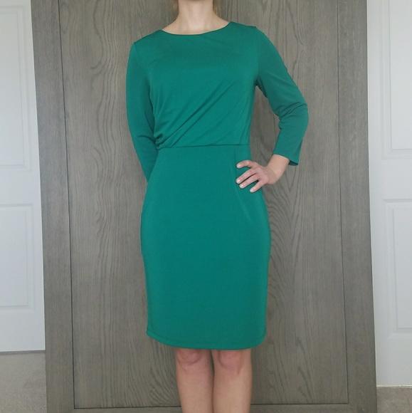 0c9a357f The Limited Dresses | Green Long Sleeve Sheath Dress | Poshmark